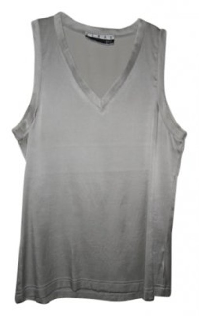 Ann Tjian for KENAR Top Silver Gray