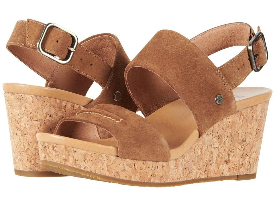 09003efbd70 UGG Australia Chestnut Women's Platform Wedge Sandals 1019949 Boots/Booties  Size US 9 Regular (M, B)