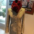 Ann Taylor Black/Off White Houndtooth Car Coat Size 2 (XS) Ann Taylor Black/Off White Houndtooth Car Coat Size 2 (XS) Image 6