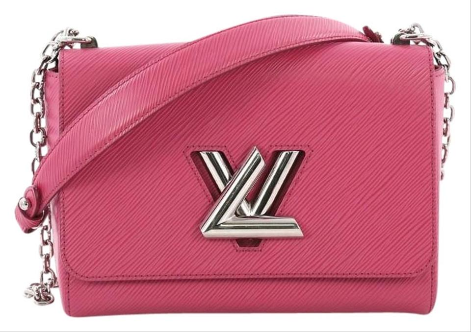 Louis Vuitton Twist Handbag Mm Pink Leather Shoulder Bag - Tradesy e5ab98ffe0323