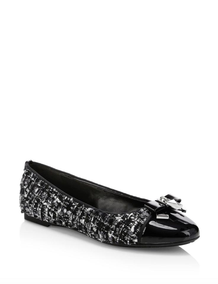 9e10f4ab0462 Michael Kors Black Silver Alice Ballet Tweed Flats Size US 9.5 ...