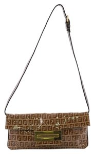 Fendi Clutch Canvas Shoulder Bag