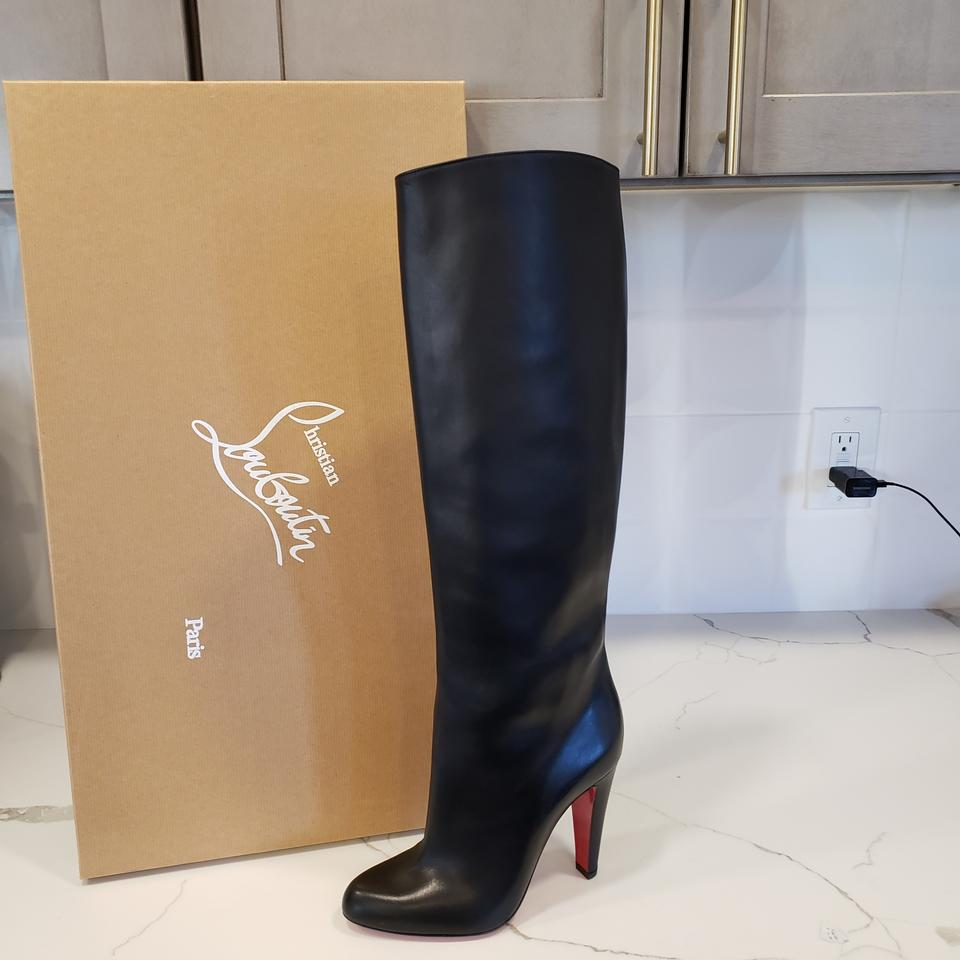 c875b628fa8 Christian Louboutin Black Marmara Botta 100 Tall Leather Knee High  Boots/Booties Size EU 38 (Approx. US 8) Regular (M, B) 21% off retail