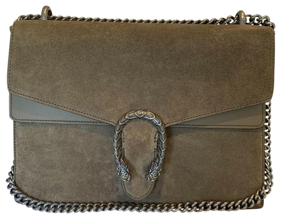 668cfed1d Gucci Dionysus Medium Taupe Suede Shoulder Bag - Tradesy