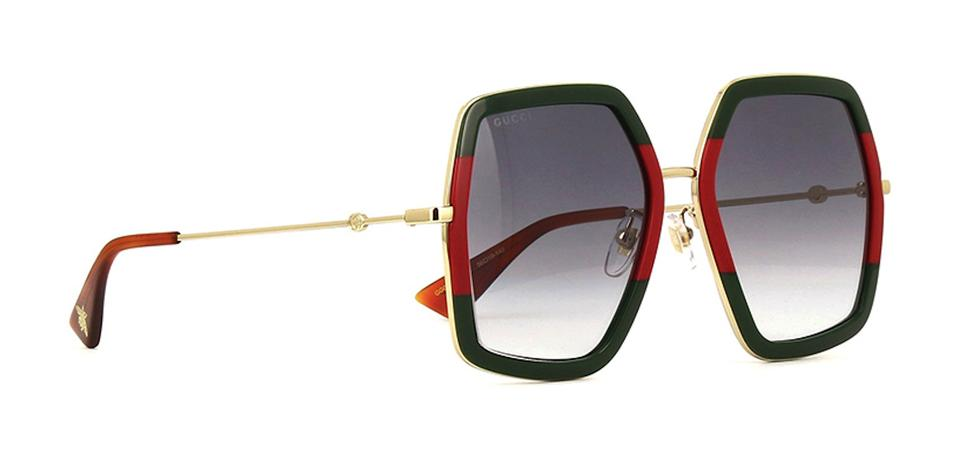 6f5cefd8a Gucci Red   Green Extra Large Style Gg0106s 007 - Free 3 Day Shipping Oversized  Sunglasses - Tradesy