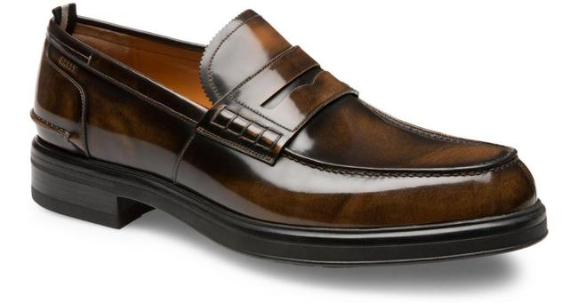 Item - Brown Mody Honey Brushed Leather Penny Loafers 13 Us 46 Swiss Shoes