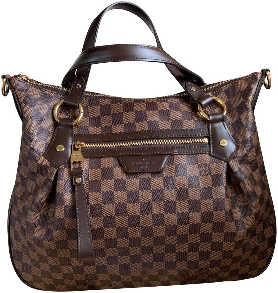 a4e237f17e6b Louis Vuitton Evora Like New Mm Damier Ebene Discontinued Brown Red ...