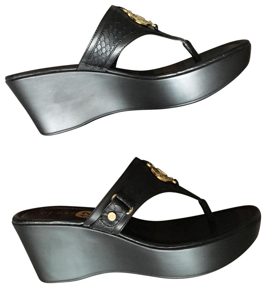 US 12 RegularMB Black Marciano Guess Sandals Platform By Size D92EHWI