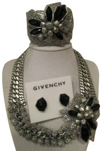 Givenchy Givenchy Flower Runway Statement Necklace Cuff Bracelet Earrings Set