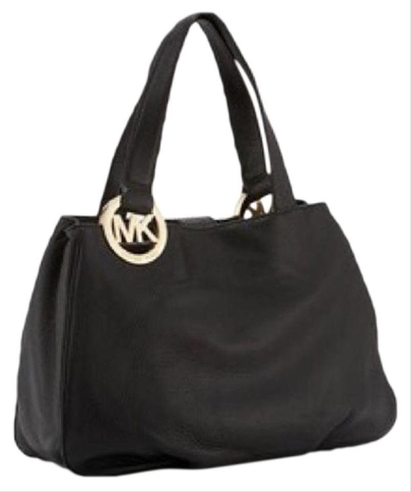 90cdf56d3c76 Michael Kors Shoulder Satchel Purse Divider Gold Tote in Black Image 0 ...