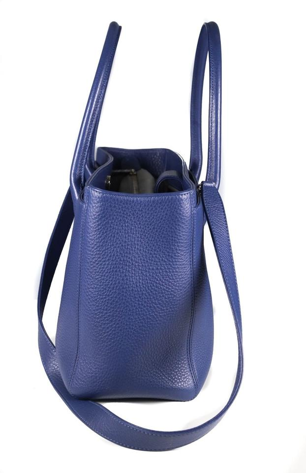 506cf5a6392 Chanel Bag Cerf Executive Blue Calfskin Leather Tote - Tradesy