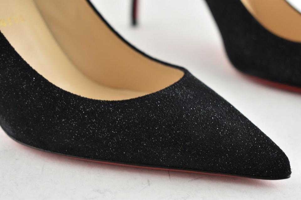 a4bdda6563e5 Christian Louboutin Black Decollete 554 85 Crosta Star Glitter Suede  Stiletto Classic Heel Pumps Size EU 40.5 (Approx. US 10.5) Regular (M