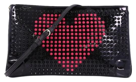 Preload https://img-static.tradesy.com/item/24856998/christian-louboutin-loubiposh-spiked-black-and-pink-leather-clutch-0-1-540-540.jpg