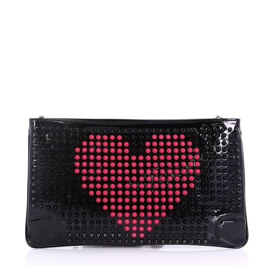 Christian Louboutin Leather black and pink Clutch