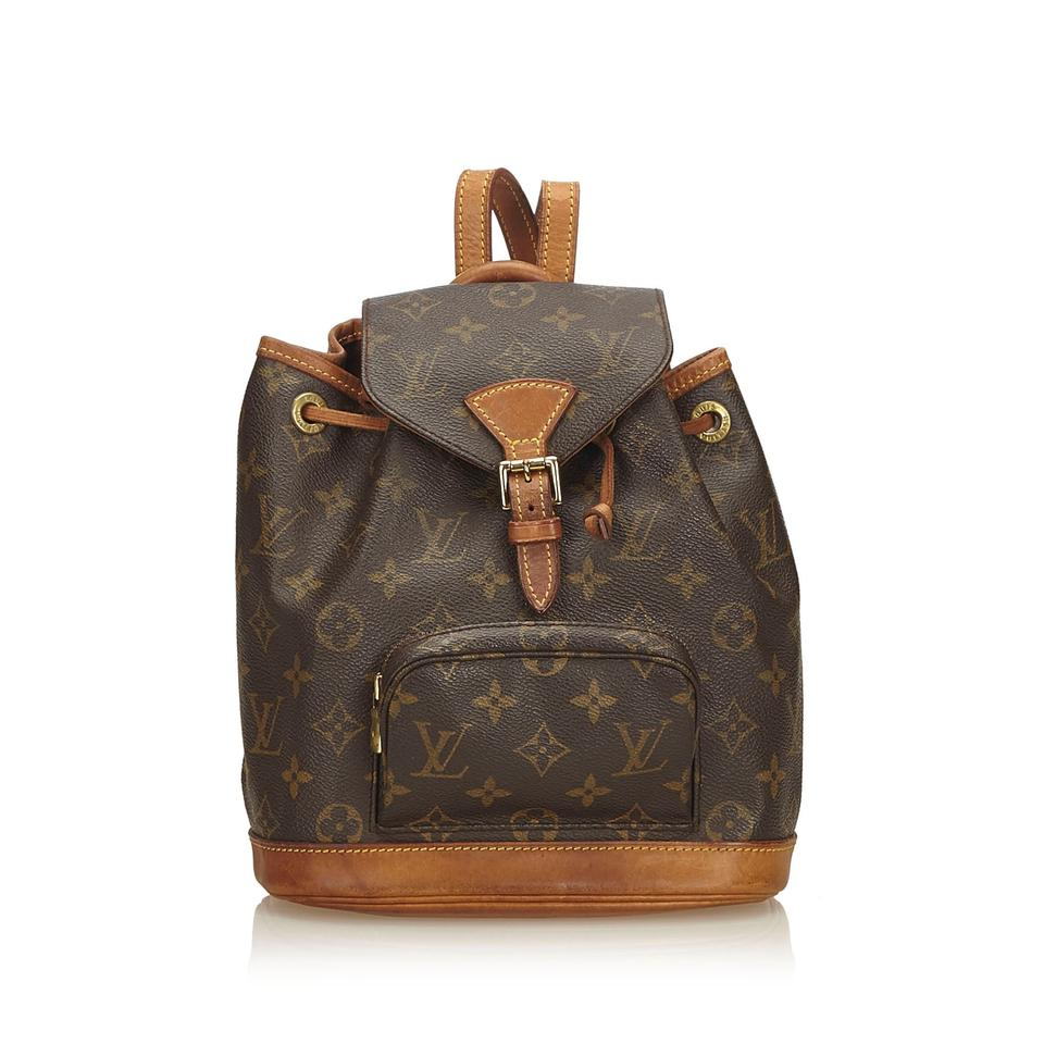 4e361d032663 Louis Vuitton Montsouris Monogram Mini Brown Coated Canvas Backpack ...