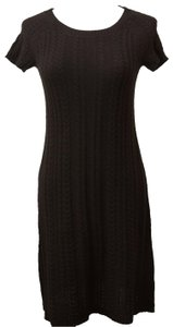 Banana Republic short dress Black Cable Knit Ribknit Luxury Cashmere Wool Short Sleeve on Tradesy