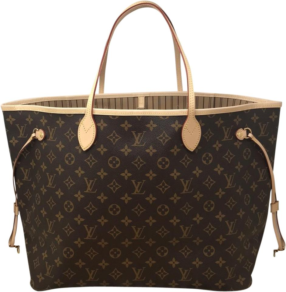 7089be4581bd Louis Vuitton Neverfull Neverfull Gm Neverfull Neverfull Beige Neverfull Gm  Mng Tote in Monogram Image 0 ...