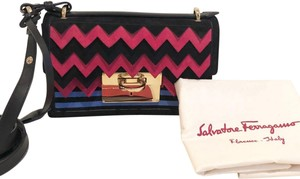 Salvatore Ferragamo Ginny Laser Mini Red Patent Leather Cross Body ... e7570f608cc8d