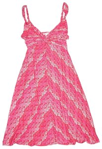 Banana Republic short dress Pink Fan Print Twist Front Knit Sundress on Tradesy