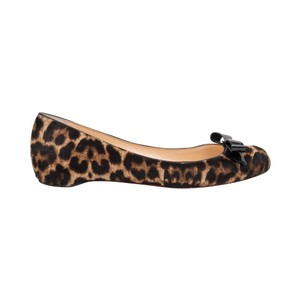 Christian Louboutin Leopard Print Ballet Pony Hair brown, black, camel Flats