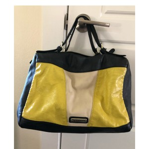 Steve Madden Satchel in Black, tan and yellow