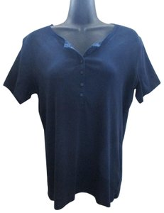 a1340f7a2821d0 Uniqlo Henley Cotton Spring Summer Casual Top Blue