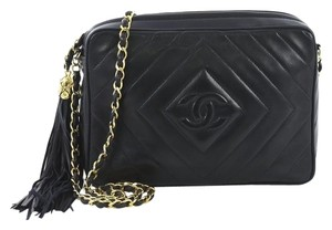 425a8ab5d62f Added to Shopping Bag. Chanel Leather Shoulder Bag. Chanel Camera Vintage Diamond  Cc Quilted Small Dark Blue ...