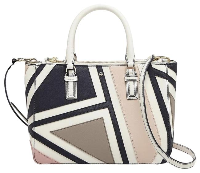 Item - Robinson Small Fret-patchwork Double Zip Multicolor Saffiano Leather Tote