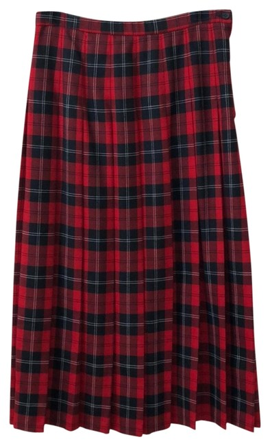 Item - Red & Black Skirt Size 10 (M, 31)
