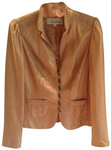 Beth Bowley Gold Leather Jacket