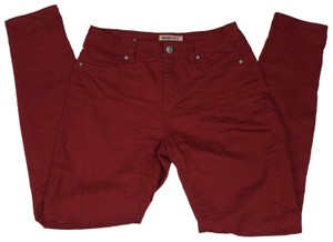 Blue Spice Skinny Pants Red
