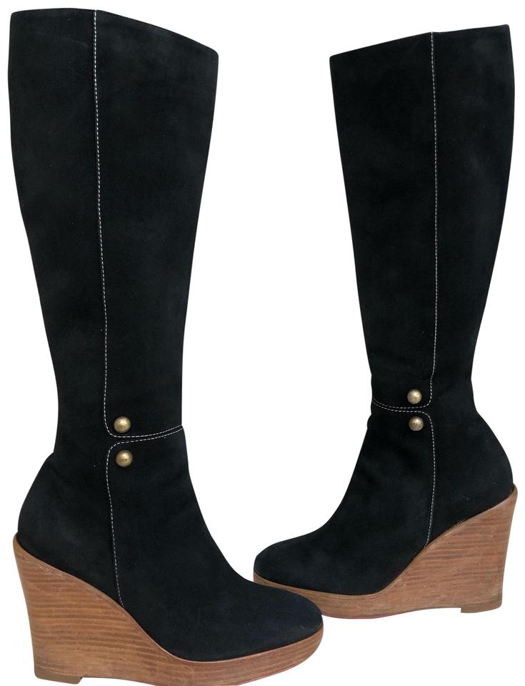 c0a2af8c6fb Christian Louboutin Black Love Story Wedge Boots Booties Size US 6.5 ...