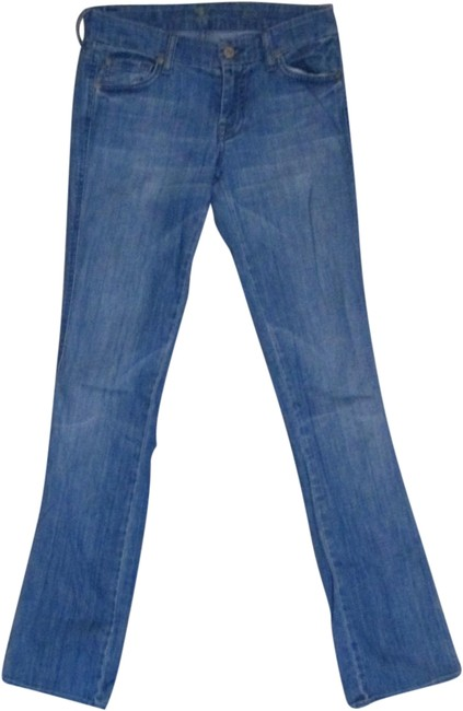 Item - Blue Medium Wash Straight Leg Jeans Size 24 (0, XS)