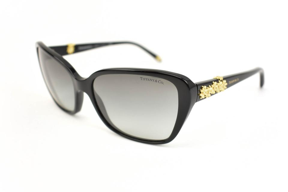 7f81ac7af274 Tiffany   Co. Black And Gold Floral Crystal Logo (Ox) Sunglasses ...