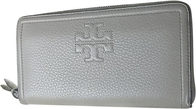 Item - Taupe Or Grey Thea Pebble Leather Wallet