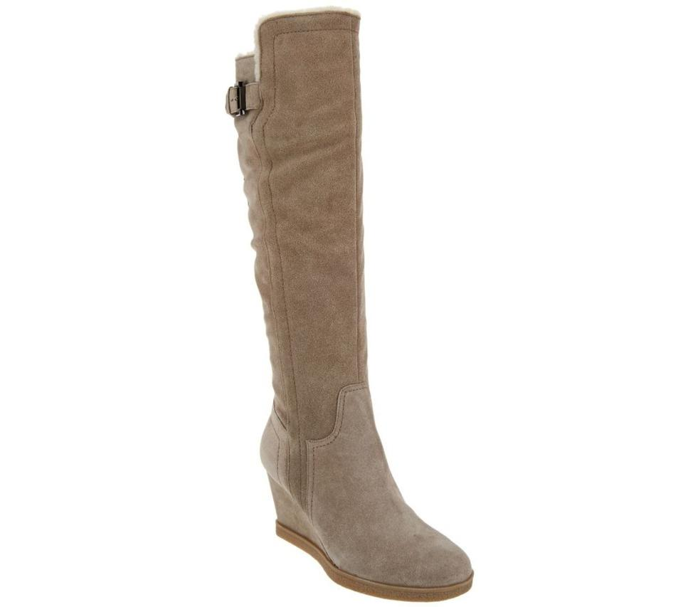 28d46d73d0f Isaac Mizrahi Live! Suede Wedge Tall Boots Booties Size US 12 ...