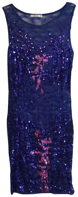 Preload https://img-static.tradesy.com/item/24858574/blue-pink-couture-sequin-bodycon-short-cocktail-dress-size-4-s-0-2-650-650.jpg