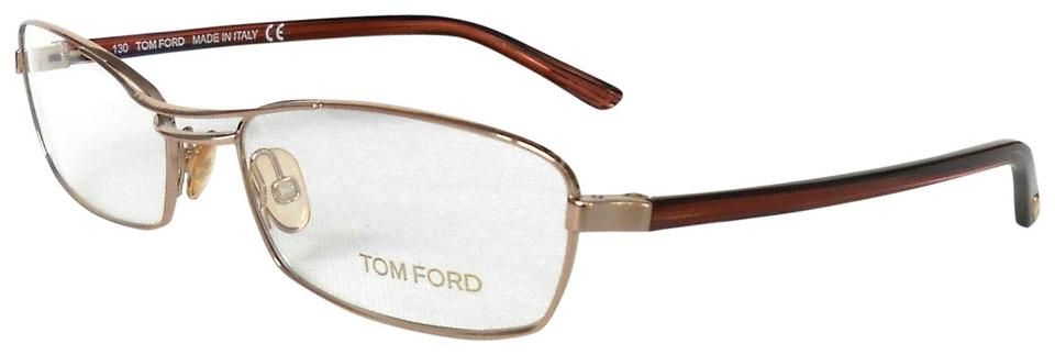 f7e56f909b Tom Ford Gold Brown Optical Frames Glasses Tf5024 Rectangular ...