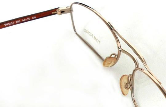 Tom Ford TOM FORD OPTICAL FRAMES GLASSES TF5024, GOLD RECTANGULAR SUNGLASSES Image 1
