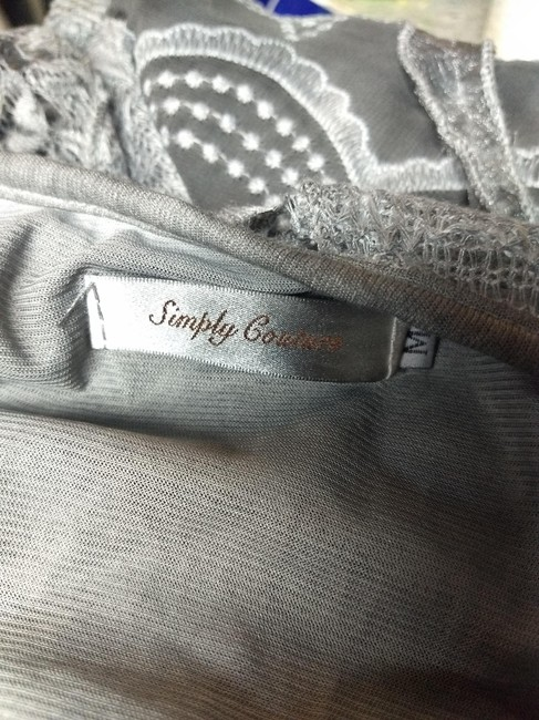 Simply Couture Top Gray Image 5