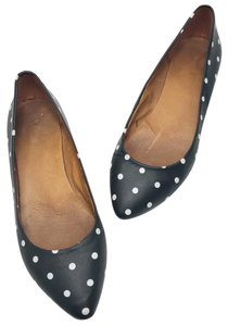 Madewell Black and White Flats