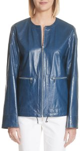 Lafayette 148 New York blu Leather Jacket