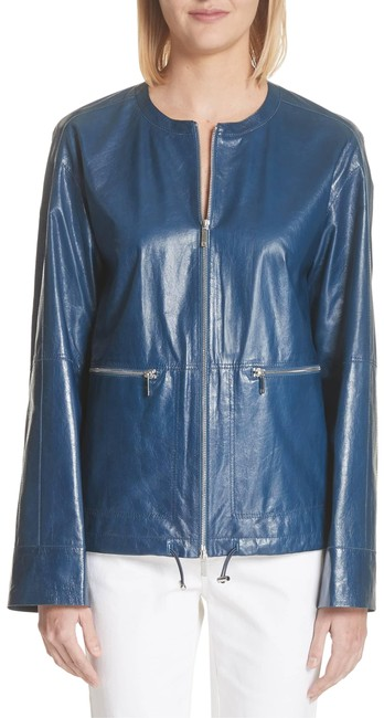 Lafayette 148 New York blu Leather Jacket Image 0