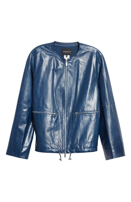 Lafayette 148 New York blu Leather Jacket Image 1