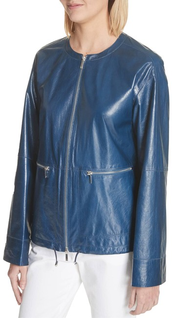 Lafayette 148 New York blu Leather Jacket Image 2
