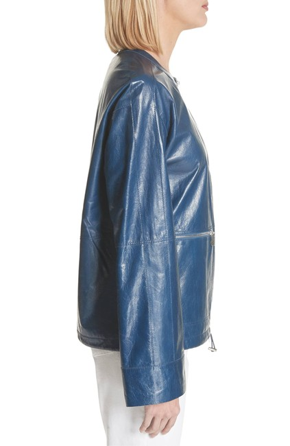 Lafayette 148 New York blu Leather Jacket Image 3