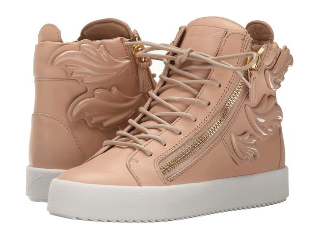 Giuseppe Zanotti Nude Women's Natural Winged Leather Side-zip Hi-top Platform Sneakers Size EU 36.5 (Approx. US 6.5) Regular (M, B) Giuseppe Zanotti Nude Women's Natural Winged Leather Side-zip Hi-top Platform Sneakers Size EU 36.5 (Approx. US 6.5) Regular (M, B) Image 1