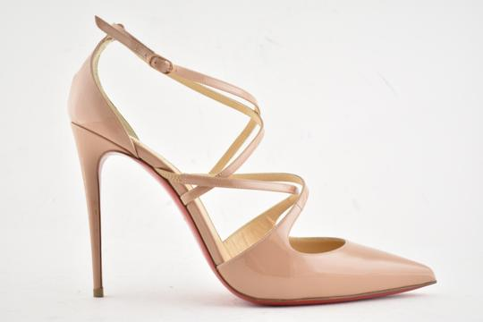 Christian Louboutin Pigalle Stiletto Classic Ankle Strap Crossfliketa nude Pumps Image 1
