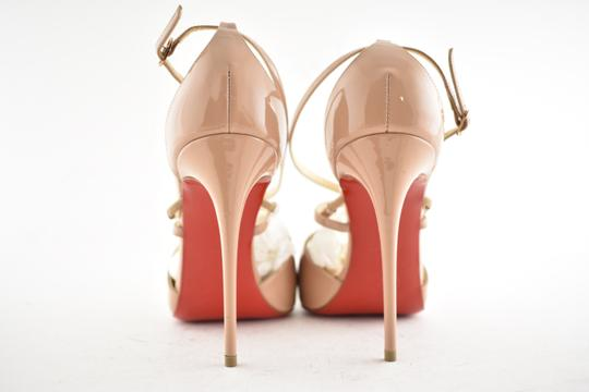 Christian Louboutin Pigalle Stiletto Classic Ankle Strap Crossfliketa nude Pumps Image 10