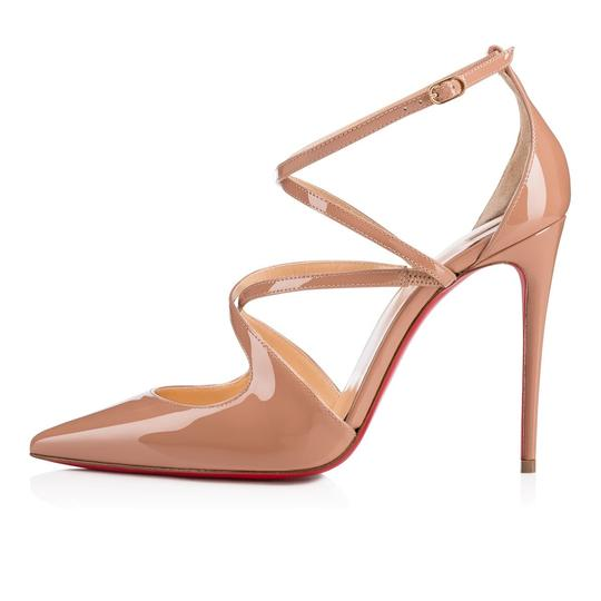 Christian Louboutin Pigalle Stiletto Classic Ankle Strap Crossfliketa nude Pumps Image 2